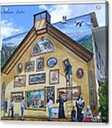 Mural In Beaupre Quebec Acrylic Print