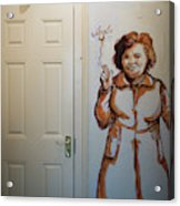 Mural Of Mccourts Mother Angela Acrylic Print