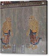 Mural - Wat Pho - Bangkok Thailand - 01132 Acrylic Print by DC Photographer