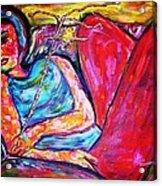 Muse Acrylic Print by Linda Vaughon
