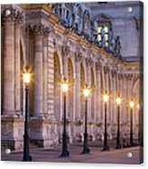 Musee Du Louvre Lamps Acrylic Print