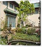 Museum Courtyard - Beautiful Courtyard Of The Pacific Asia Museum In Pasadena. Acrylic Print