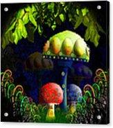Mushroom Town Acrylic Print