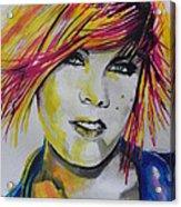 Music Artist..pink Acrylic Print