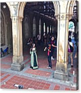 Music Echoes Under The Arches Acrylic Print