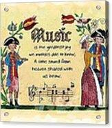 Music Fraktur Acrylic Print