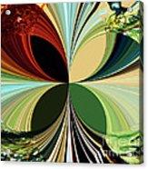 Music In Bird Of Tree Kaleidoscope Acrylic Print