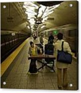 Music In New York Subway Acrylic Print