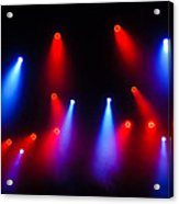 Music In Red And Blue - The Wonderful Sound Of Nightlife Acrylic Print