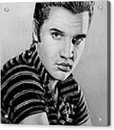 Music Legends Elvis Acrylic Print by Andrew Read