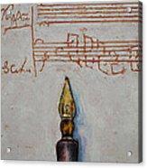 Music Acrylic Print by Michael Creese