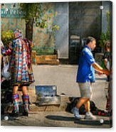 Music - Mummers Preperation Acrylic Print by Mike Savad
