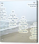 Music Of The Wind And Waves Poem On Ocean Background Acrylic Print