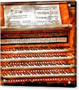 Music - Organist - The Pipe Organ Acrylic Print by Mike Savad