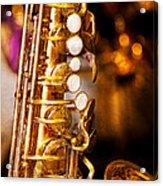 Music - Sax - Sweet Jazz  Acrylic Print by Mike Savad