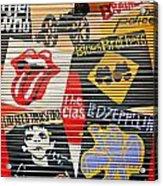 Music Street Art Color Acrylic Print