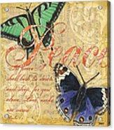 Musical Butterflies 2 Acrylic Print by Debbie DeWitt