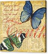 Musical Butterflies 3 Acrylic Print