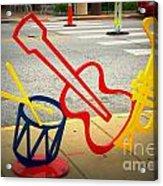 Musical Instruments Bike Rack Acrylic Print