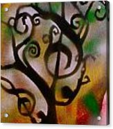 Musical Tree Golden Acrylic Print