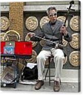 Musician In Chinatown In San Francisco Acrylic Print