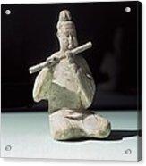 Musician Playing The Dizi. 618 - 907 Acrylic Print