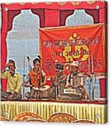 Musicians At Hindu Festival Of Ram Nawami In Kathmandu-nepal Acrylic Print