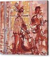 Musicians On Royal Street New Orleans Acrylic Print