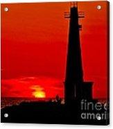 Muskegon Light Sunset Acrylic Print