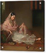 Muslim Lady Reclining Acrylic Print