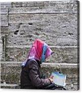Muslim Woman At Mosque Acrylic Print