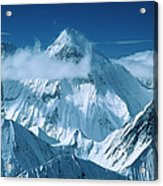 Mustagh Tower At Center And Masherbrum Acrylic Print