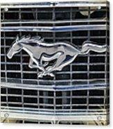Mustang Emblem Acrylic Print