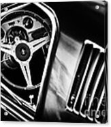 Mustang Interior Monochrome Acrylic Print