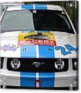 Mustang Race Car Acrylic Print
