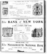 Mutual Funds, 1901 Acrylic Print