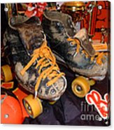 My Battle Scarred Roller Derby Skates  Acrylic Print
