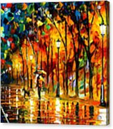 My Best Friend - Palette Knife Oil Painting On Canvas By Leonid Afremov Acrylic Print