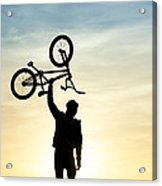 Bmx Biking Acrylic Print by Tim Gainey