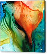 My Cup Runneth Over - Abstract Art By Sharon Cummings Acrylic Print