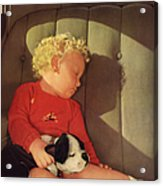 My Dad A Boy And His Dog 1932 Acrylic Print