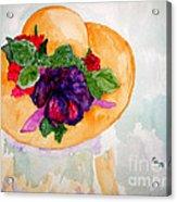 My Easter Bonnet Long Ago Acrylic Print