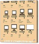 My Evolution Apple Mac Minimal Poster Acrylic Print