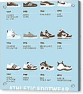 My Evolution Sneaker Minimal Poster Acrylic Print