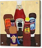 My Favourite Sauces Acrylic Print by Bav Patel