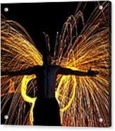My Fire Angel Acrylic Print by Alexandra  Rampolla