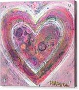 My Glittering Heart Acrylic Print
