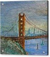 My Golden Gate Bridge Acrylic Print by Anais DelaVega