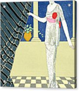 My Guests Have Not Arrived Acrylic Print by Georges Barbier