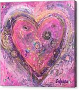 My Heart Of Circles Acrylic Print